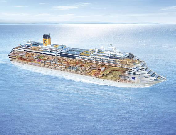 Nave da crociera costa incagliata in una secca a isola del for Quali cabine sono disponibili sulle navi da crociera
