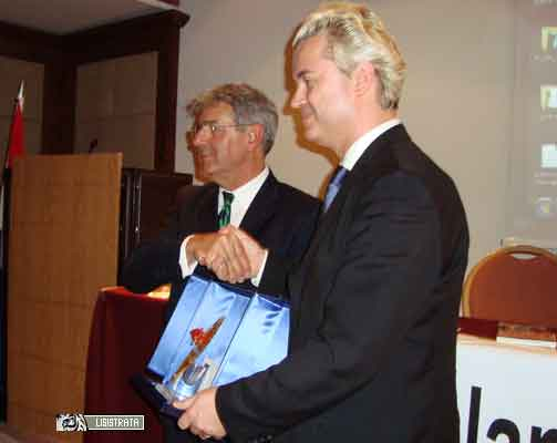 Geert Wildesrs col direttore Armando Masnocchia