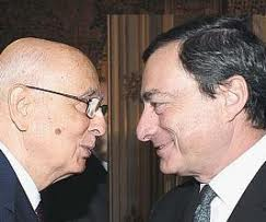 Giorgio Napolitano e Mario Draghi