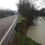 Maltempo: erosione Samoggia, chiusa provinciale nel Bolognese