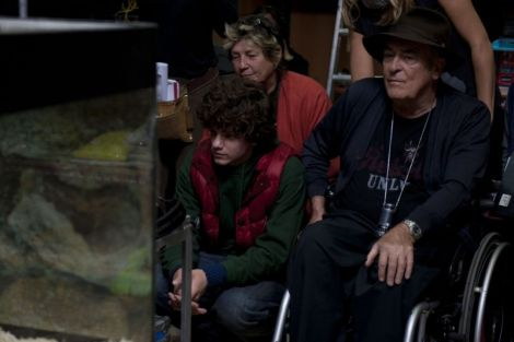 "Bernardo Bertolucci sul set del film ""Io e te"""