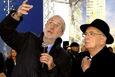 Napolitano e l'archistar renzo Piano