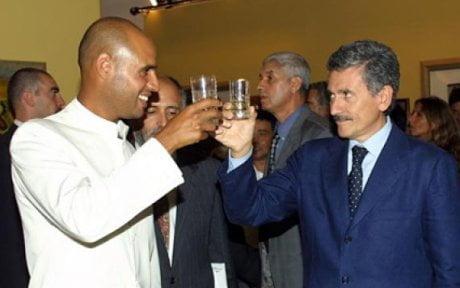 Saif Gheddafi con D'Alema (dagospia)
