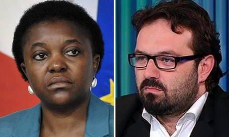 Il ministro Cécile Kyenge e il deputato leghista Gianluca Pi