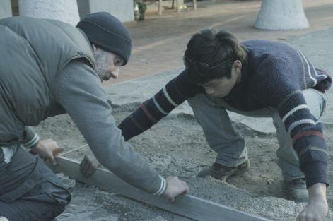 """Giuseppe Fiorello in una scena del film """"Se chiudo gli occhi non sono più qui"""""""