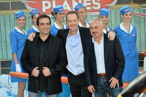 "Gianluca Terranova, John Peter Sloan e Gianfranco Mazzon sul red carpet di ""Planes"""