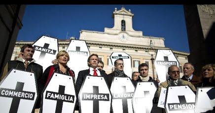 Protesta contro il fisco bare a montecitorio imola oggi for Montecitorio oggi