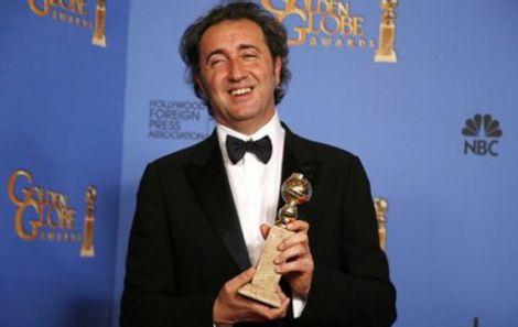 """Paolo Sorrentino con il Golden Globe per """"La grande bellezza"""""""
