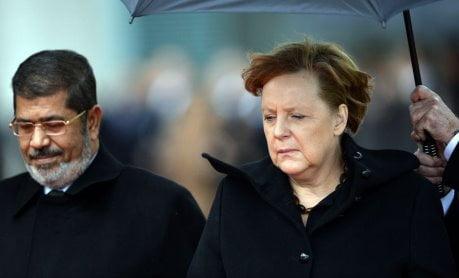 GERMANY-EGYPT-POLITICS-UNREST-DIPLOMACY-MERKEL-MORSI