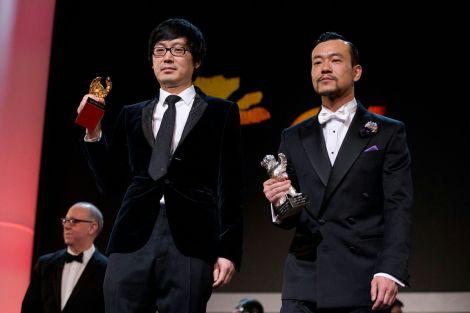 Diao Yinan e Liao Fan, regista ed attore protagonista del film Bai Ri Yan Huo