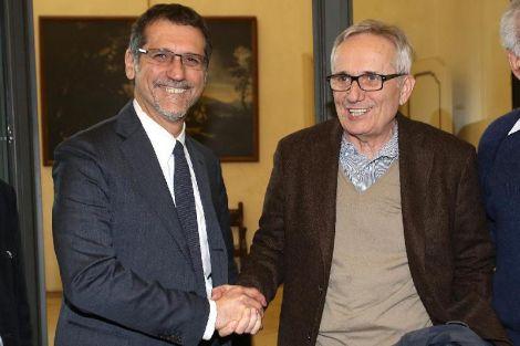 Il Sindaco di Bologna Virginio Merola e Marco Bellocchio