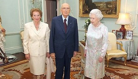 Italian President Napolitano at Queen reception