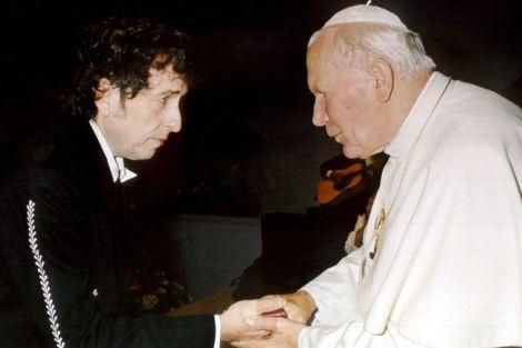 Bob Dylan e Giovanni Paolo II al Congresso eucaristico di Bologna del 27 settembre 1997