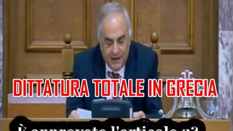 Video democrazia completamente morta in grecia orrore for Numero legale parlamento