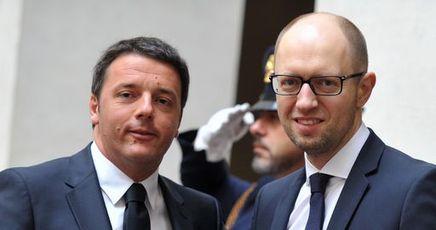 ITALY-UKRAINE-DIPLOMACY-RENZI-YATSENYUK