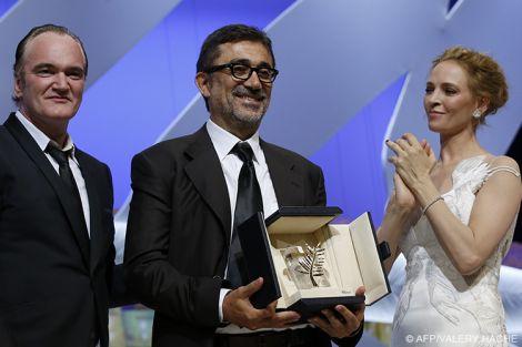 Nuri Bilge Ceylan fra Quentin Tarantino ed Uma Thurman, premiatori della Palma d'oro