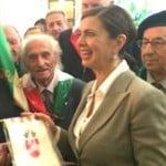Il presidente Boldrini con i partigiani