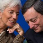 Christine Lagarde and Mario Draghi