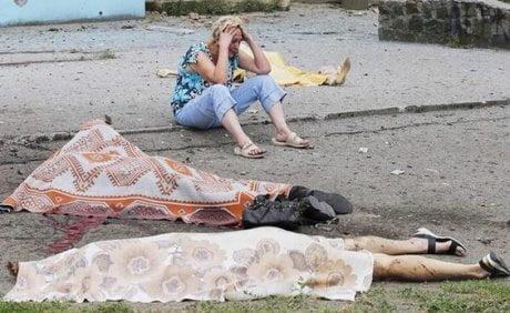 Bomba al centro di Lugansk, 20 morti