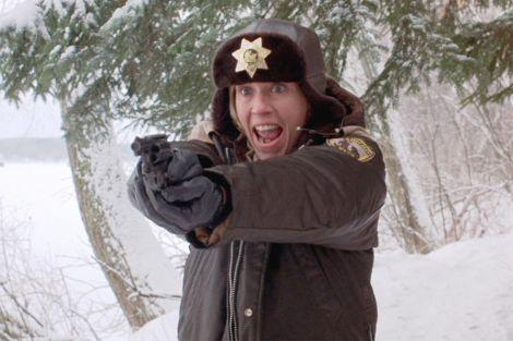 Frances McDormand in una scena del film Fargo