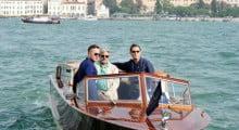 Giancarlo Giannini e Jude Law arrivano all'Hotel Cipriani di Venezia