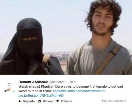 donna jihadista su twitter 2