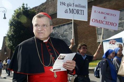 Cardinale Leo Burke alla Marcia per la Vita