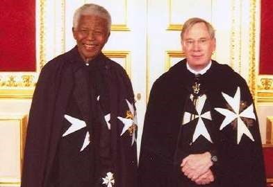 Nell'Ordine di Malta anche Nelson Mandela