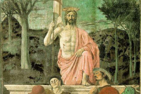 Particolare della Resurrezione di Piero della Francesca