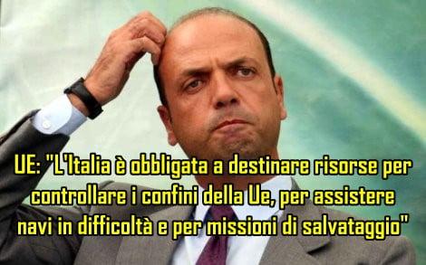 Conferenza stampa del Ministro Angelino Alfano in Prefettura a Caserta