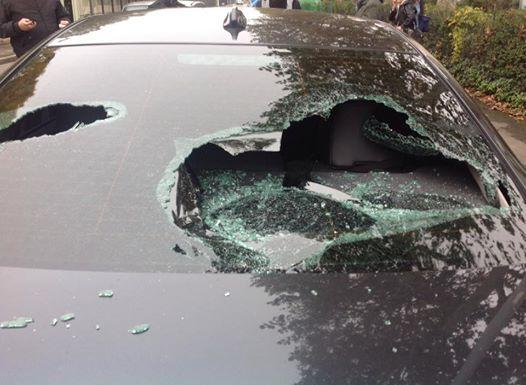 assalto auto di Salvini