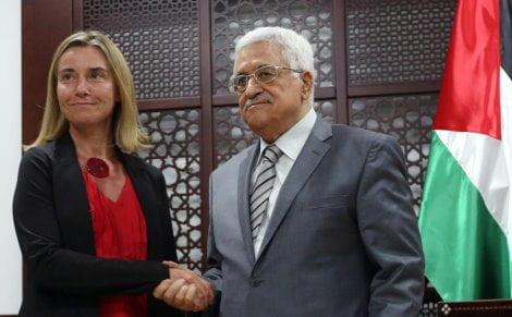 Italian Foreign Minister Mogherini visits Ramallah