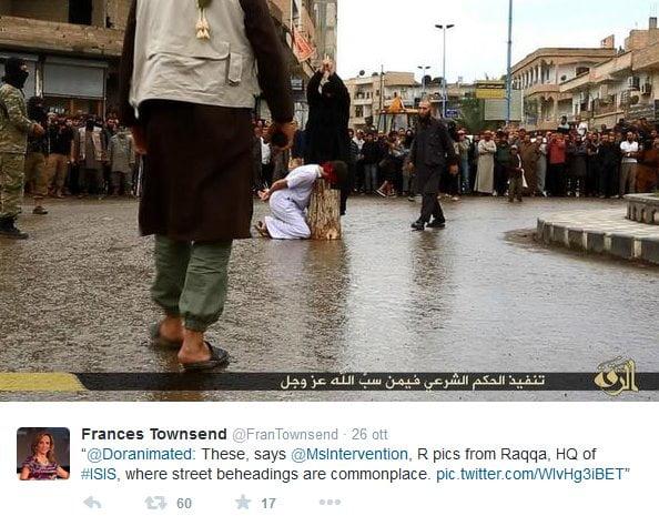 decapitazioni a Raqqa