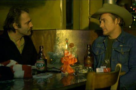 Bruno Ganz e Dennis Hopper in una scena del film L'amico americano