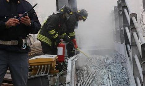Ferrovie:incendio doloso vicino Bologna, treni fermi