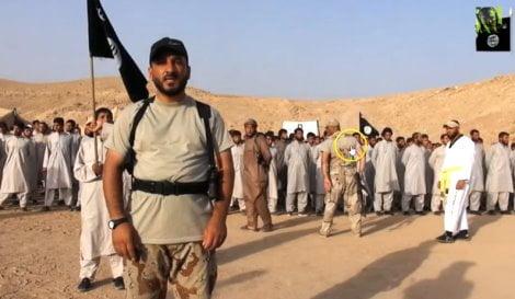 soldati USA in un campo di jihadisti