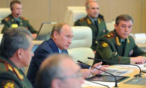 Vladimir Putin, Valery Gerasimov, Sergei Shoigu