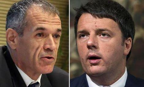Carlo Cottarelli e Matteo Renzi