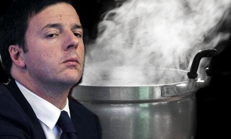 steam on pan