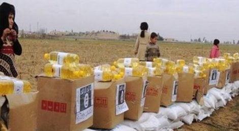 Siria/ Siria, logo Isis su aiuti alimentari del'Onu