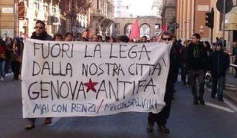 centri-sociali-genova-contro-Salvini