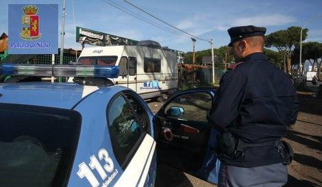 campo rom polizia