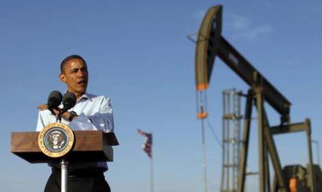 Il presidente Barack Obama in visita ad un giacimento di petrolio e di gas in New Mexico per promuovere la sua politica energetica