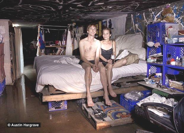 americani poveri vivono nelle fogne di Las Vegas