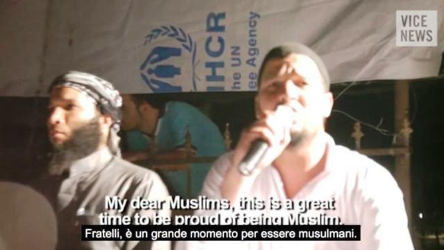 terroristi davanti alle tende ONU (Unhcr)