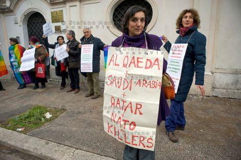 No War contro l'aggressione in Siria