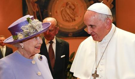 Pope Francis receives Queen Elizabeth II