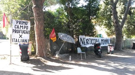 Campo profughi degli italiani, no hotel
