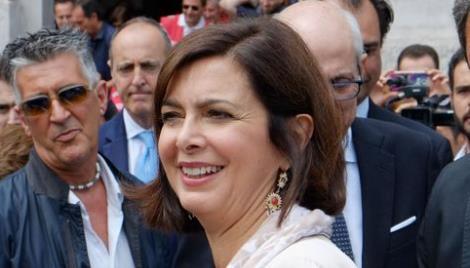 Milano stazione Centreale presidente della camera Boldrini