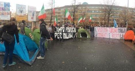 italiani senza casa a Torino